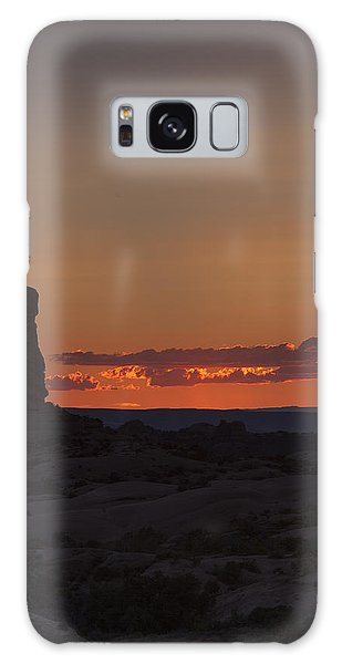 Sunset Over Rock Formation Galaxy Case