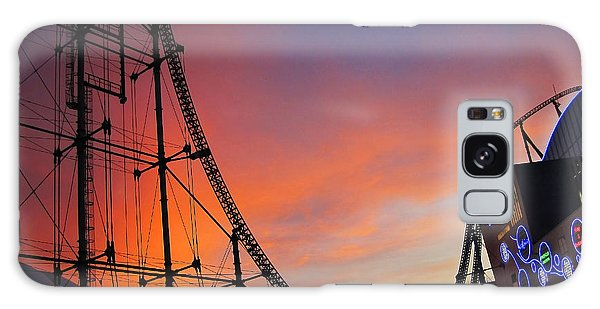 Sunset Over Roller Coaster Galaxy Case by Eena Bo