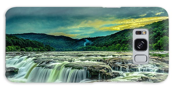 Galaxy Case featuring the photograph Sunset Over Sandstone Falls by Donald Brown