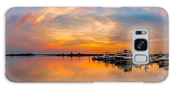 Sunset Over Shrewsbury Bay Galaxy Case