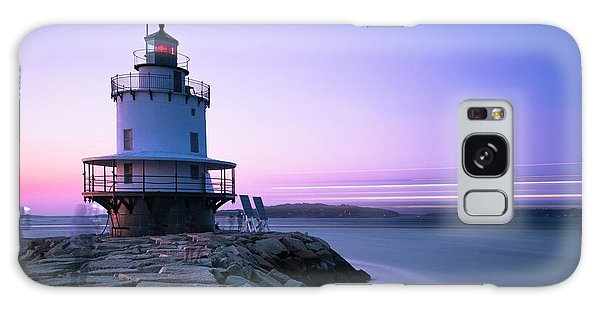 Sunset Over Spring Breakwater Lighthouse In South Maine Galaxy Case
