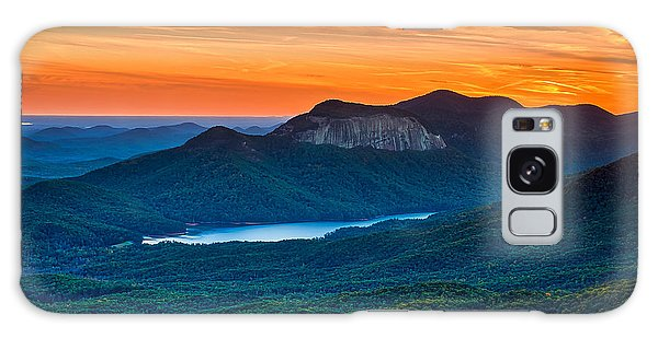 Sunset Over Table Rock From Caesars Head State Park South Carolina Galaxy Case