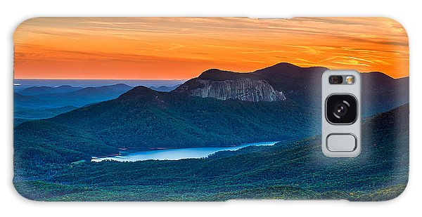 Sunset Over Table Rock From Caesars Head State Park South Carolina Galaxy Case by T Lowry Wilson