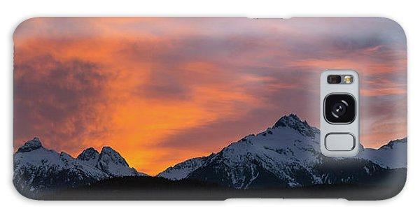 Sunset Over Tantalus Range Panorama Galaxy Case