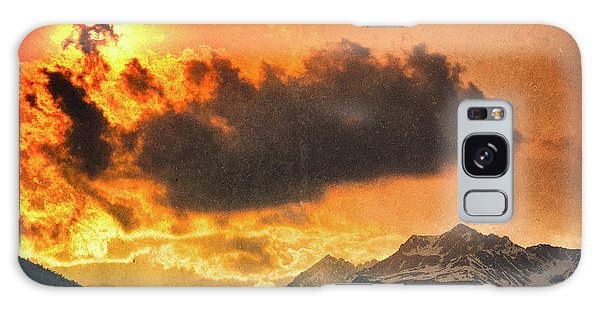 Galaxy Case featuring the photograph Sunset Over The Alps by Silvia Ganora