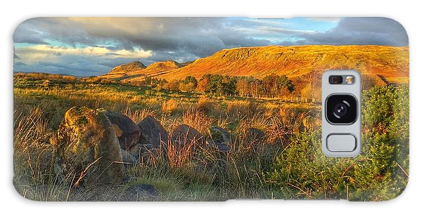 Sunset Over The Campsie Fells Galaxy Case by RKAB Works