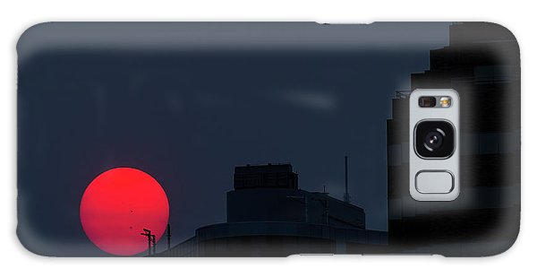 Sunset Over The City Of Portland Oregon Galaxy Case