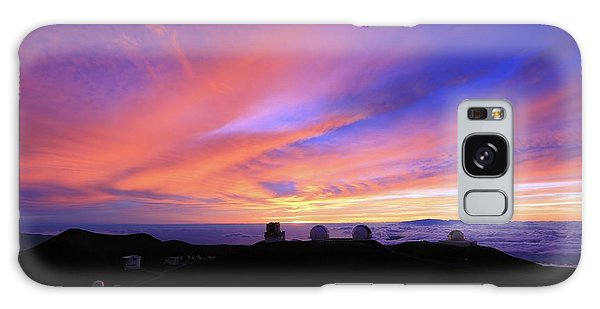 Sunset Over The Clouds Galaxy Case
