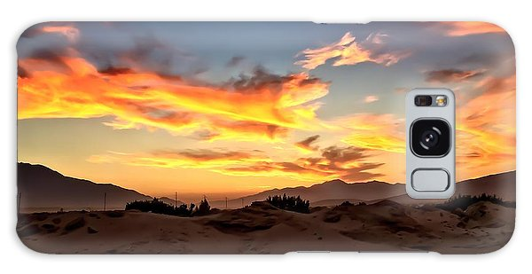 Sunset Over The Desert Galaxy Case