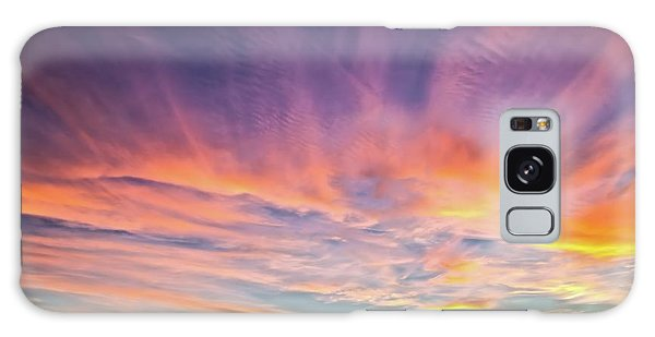 Sunset Over The Dunes Galaxy Case