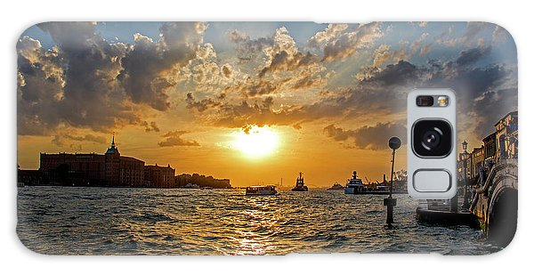 Sunset Over The Grand Canal In Venice Galaxy Case