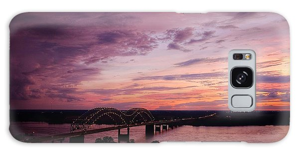 Sunset Over The I40 Bridge In Memphis Tennessee  Galaxy Case