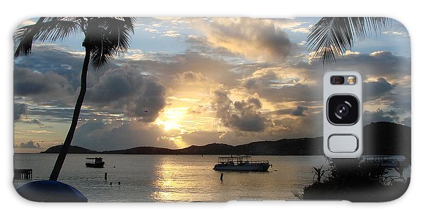 Sunset Over The Inifinity Pool At Frenchman's Cove In St. Thomas Galaxy Case by Margaret Bobb