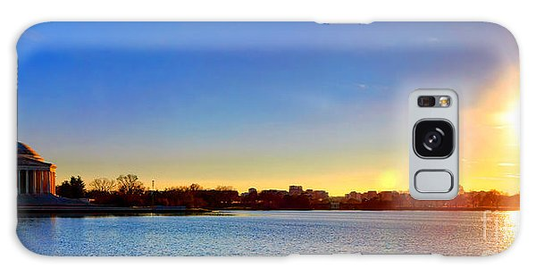 Sunset Over The Jefferson Memorial  Galaxy Case