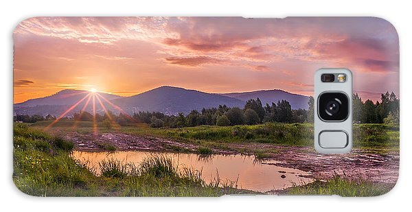 Sunrise Over The Little Beskids Galaxy Case