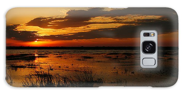 Sunset Over The Marsh Galaxy Case