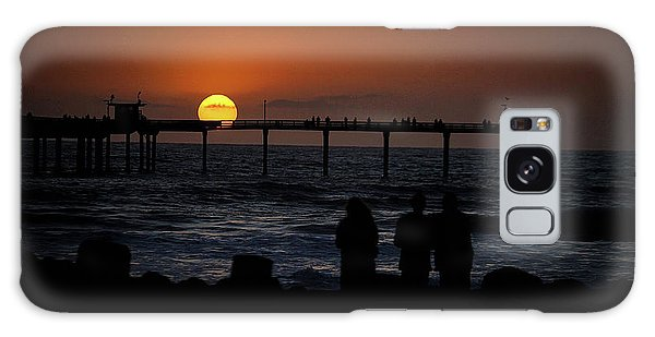Sunset Over The Pier Galaxy Case