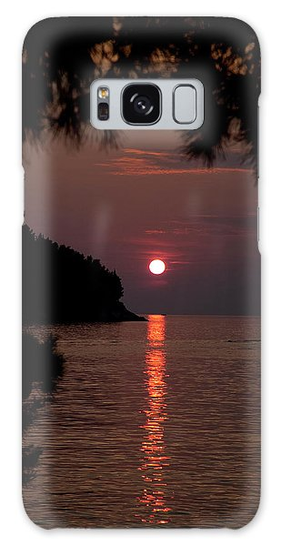 Sunset Over The Sea - Croatia Galaxy Case