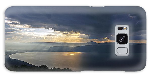Sunset Over The Sea Of Galilee Galaxy Case