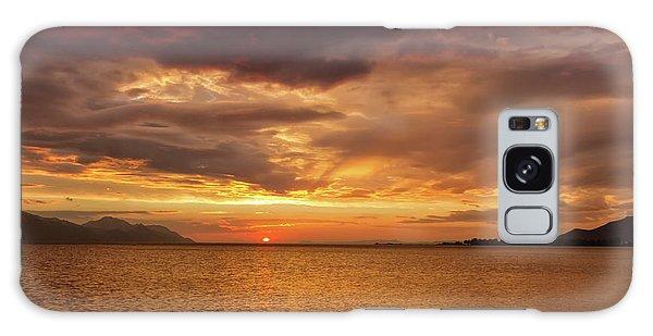 Sunset Over The Sea, Opuzen, Croatia Galaxy Case