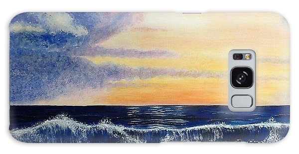 Sunset Over The Sea Galaxy Case
