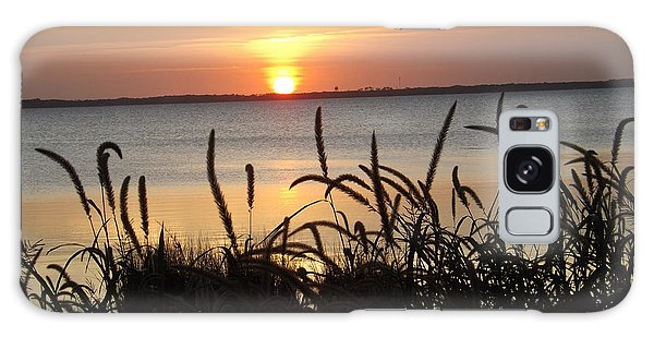Sunset Over The Sound  Galaxy Case