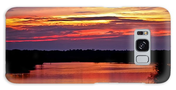 Sunset Over The Tomoka Galaxy Case by DigiArt Diaries by Vicky B Fuller