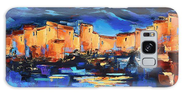 Sunset Over The Village 2 By Elise Palmigiani Galaxy Case