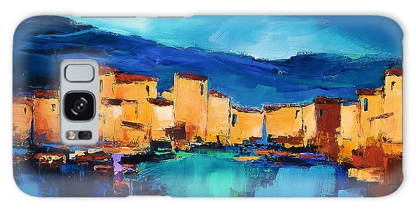 Sunset Over The Village 3 By Elise Palmigiani Galaxy Case