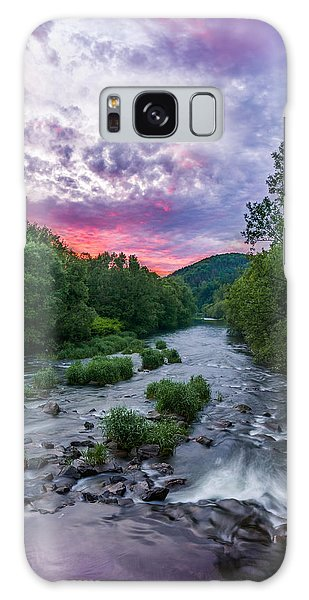 Sunset Over The Vistula In The Silesian Beskids Galaxy Case