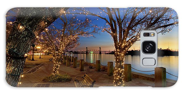 Sunset Over The Wilmington Waterfront In North Carolina, Usa Galaxy Case