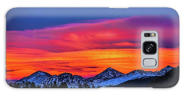 Sunset Over Torreys And Grays Peaks Galaxy Case