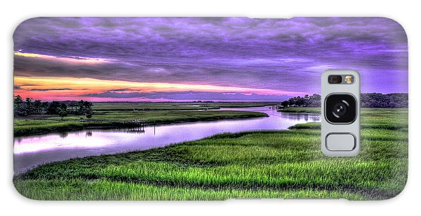 Sunset Over Turners Creek Savannah Tybee Island Ga Galaxy Case