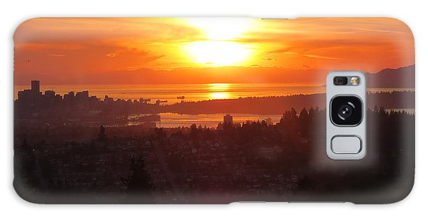Sunset Over Vancouver Galaxy Case