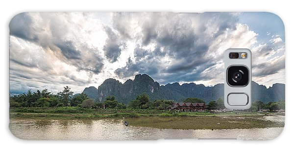 Sunset Over Vang Vieng River In Laos Galaxy Case