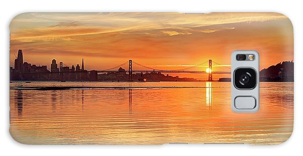 Galaxy Case featuring the photograph Sunset Over Water - It Never Gets Old by Peter Thoeny