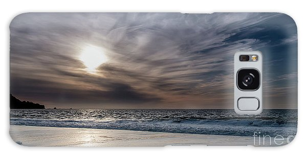 Sunset Over West Coast Beach With Silk Clouds In The Sky Galaxy Case