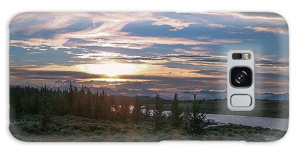 Sunset Over West Yellowstone Galaxy Case