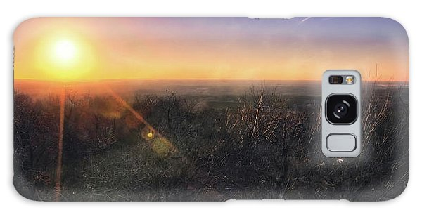 Sunset Over Wisconsin Treetops At Lapham Peak  Galaxy Case by Jennifer Rondinelli Reilly - Fine Art Photography