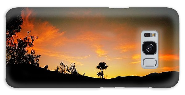 Sunset - Palm Mountain Galaxy Case by Guy Hoffman