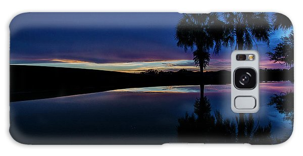 Sunset Palms Galaxy Case