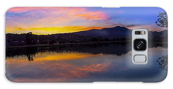 Sunset Panorama Of Mt. Tam And Richardson Bay Galaxy Case