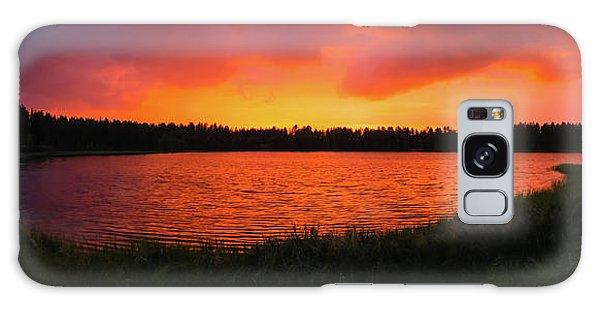 Sunset Panorama Galaxy Case by Teemu Tretjakov