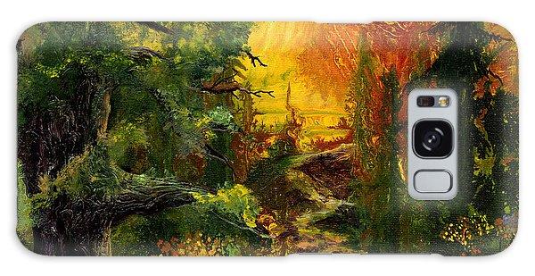Sunset Path Galaxy Case