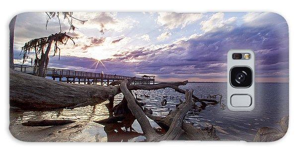 Galaxy Case featuring the photograph Sunset Pier by Robert Och
