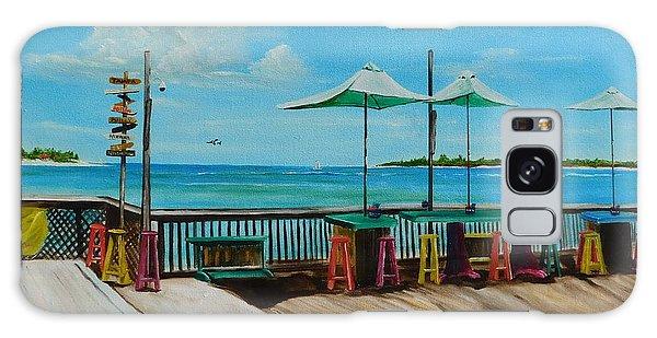 Sunset Pier Tiki Bar - Key West Florida Galaxy Case by Lloyd Dobson