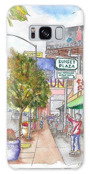 Sunset Plaza, Sunset Blvd., And Londonderry, West Hollywood, California Galaxy Case by Carlos G Groppa