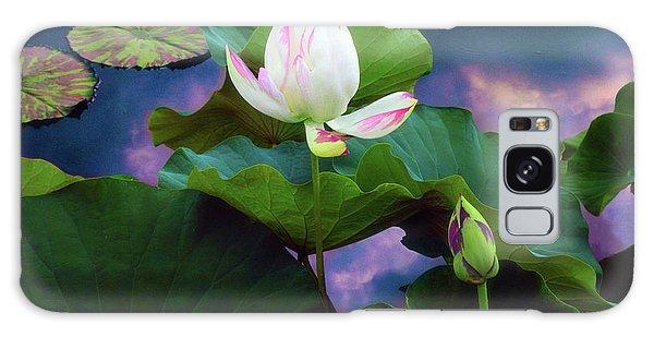Sunset Pond Lotus Galaxy Case
