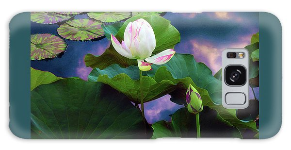 Sunset Pond Lotus Galaxy Case