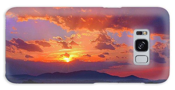 Sunset Rays At Smith Mountain Lake Galaxy Case